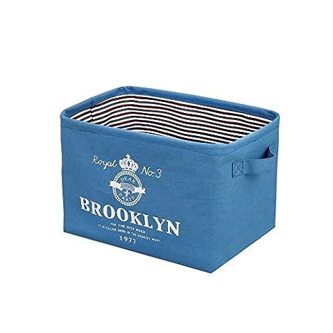 FuXing Faltbar Wäschekorb Polyester Baumwolle Kleidung Wäschekorb Tasche Pop-up Wäschebox