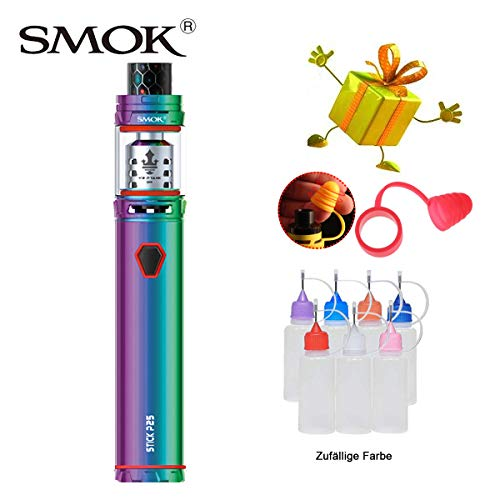 Original Smok 230W Stick Prince Kit,E-Zigarette Starter Set mit 2ml TPD-Tank Verdampfer, Verdampfer Kit Eingebaut 3000mAh-Batterien Ohne Nikotin, Ohne Flüssigkeit (7-farbig) - E Zigaretten Flüssigkeit