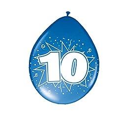 Idea Regalo - Palloni a Forma di cifra Palloncini per Compleanno 10 Anni Pallone in Lattice con Motivi Stampati Palloncini Ornamentali per Decorazione di Feste Palloncino per Compleanni Pallone d'Aria per Party