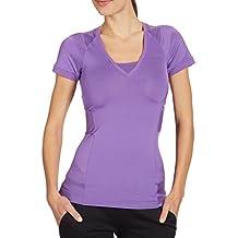 Reebok Easytone playdry Drap-housse pour femme à manches courtes T-shirt de sport pour homme Violet Violet 4-6