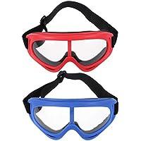 TOYANDONA Gafas de Ciclismo con Lentes Transparentes Gafas de Sol Deportivas Gafas de Esquí Gafas Protectoras Béisbol Running Gafas Marco Rojo Azul Accesorios Al Aire Libre