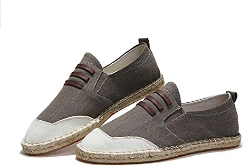 Alpargatas para Hombre,Estilo Chino Loafer Pisos Casual Suela de Lino Zapatos de Lona para Hombres  -