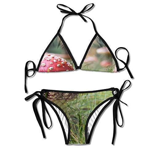 Jxrodekz Magic Mushrooms Women's Sexy Bikini Set Swimsuit Bathing Suit Triangle Swimwear Sexy Magic Mushroom