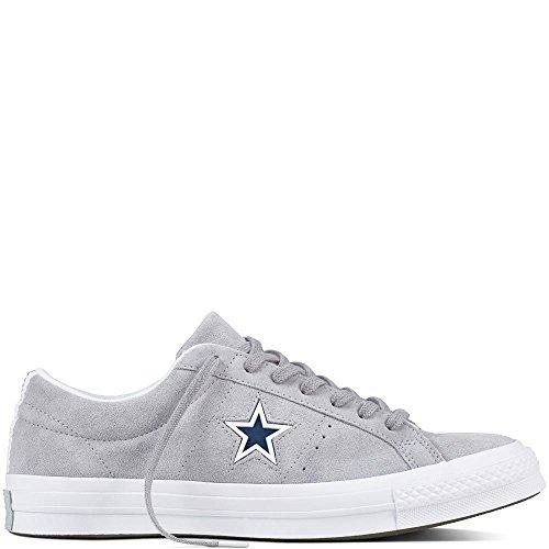 Converse One Star Suede (Converse Unisex-Erwachsene Lifestyle One Star Ox Suede Fitnessschuhe, Grau (Wolf Grey/White/Navy 097), 42 EU)