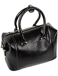 elegante klassische Damentasche Schultertasche Klappe Schnalle beige