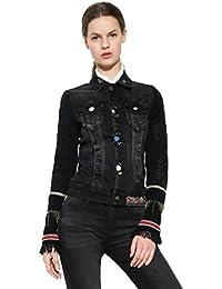 Schwarze jeansjacke damen 48