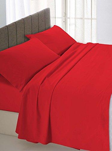 Ki-osa by matteo bosio lenzuolo sotto con angoli rosso matrimoniale 170 x 200 cm