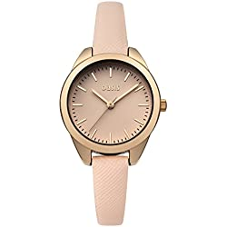 Oasis Women's Quartz Watch with Nude Dial Analogue Display and Beige PU Strap B1546