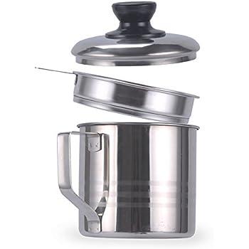 High Quality Haosens 1200ml Edelstahl Fettfilter Ölbehälter,Öl Sieb Topf  Lebensmittelkontakt Fett Behälter,geeignet Für Aufbewahrung Von Braten Und  Kochen Öl, ...