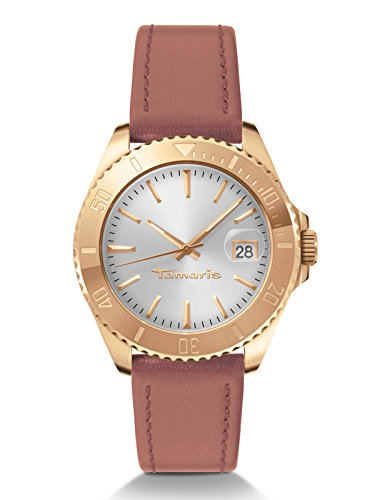 Tamaris Montre Femme Marina 40 mm Date Marron b08112000