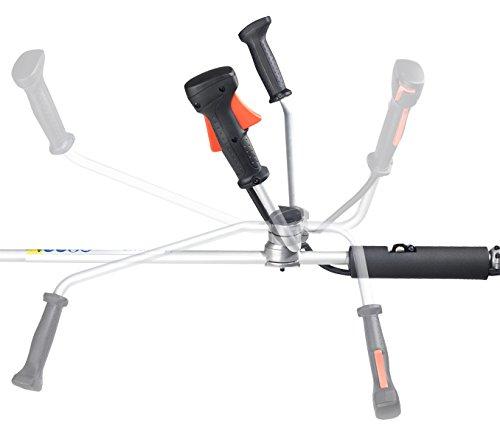 Dolmar 4-Takt-Motorsense mit 4-Zahn-Schlagmesser und Zweihandgriff, schwarz/orange/edelstahl