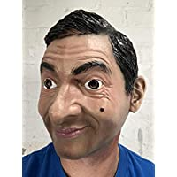 Rubber Johnnies TM Rowan Atkinson Latex Mask, TV Personality, Actor, Celebrity, One Size, Adult