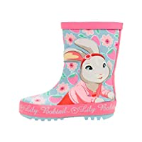 Peter Rabbit Girls Lily Bobtail Pink Wellies