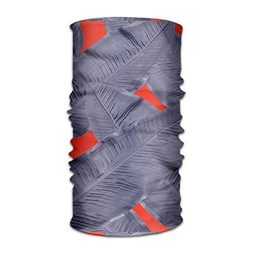 Red Leaf Cool Headwear For Men And Women-Yoga Sports Travel Workout Wide Headbands,Neck Gaiter,Bandana,Helmet Liner,Balaclava,Hair Turban,Scarf