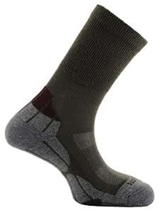 Horizon  Coolmax Hiker Sock - Khaki/Grey/Bordeaux, Size 31/2-6