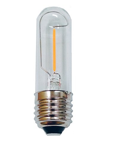 Fulight Decorative LED Filament Bulb T10-1W (15W Equivalent), Soft White 2700K, E26 Medium Base - to Replace A15 Appliance Fan Bulb by Fulight