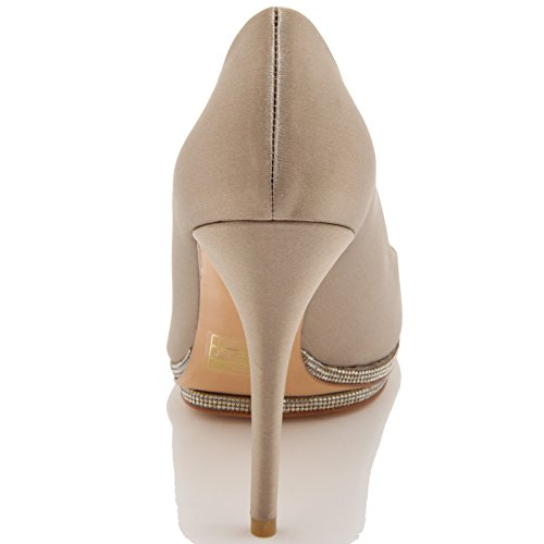 86108 decollete spuntato STUART WEITZMAN FRANCE scarpa donna shoes women Tortora