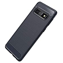 Galaxy S10 Plus Case, Slim Protection Cover Slip-Resistant Soft TPU Silicone Bumper Shockproof Carbon Fiber Texture Design Upgrade Ultra Light Phone Case for Galaxy S10 Plus (Galaxy S10 Plus, Blue)