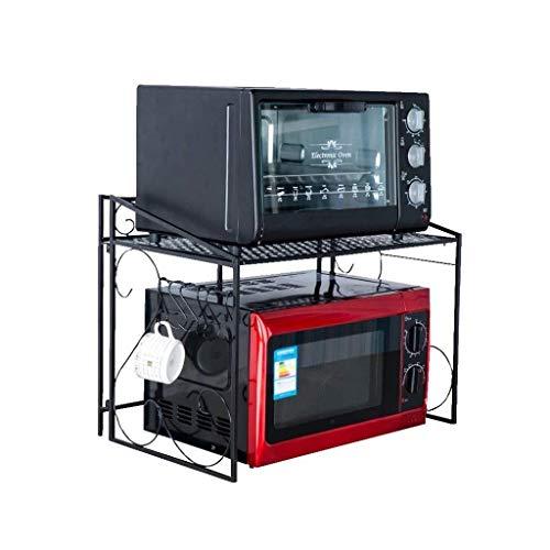 RMJAI Regale Metall-Mikrowellenregal Abstellregale Küchenregal Mikrowellenregal Ständer Aufsatz Space Saver Aufbewahrung Regal
