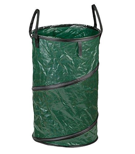 Meister Springsack 160 l - Selbststehend - Witterungsbeständig - Abwaschbar / Stabiler Gartensack für Grünabfälle / Rasensack / Laubsack aus strapazierfähigem PE / Springsack / Pop-Up-Sack / 9960970