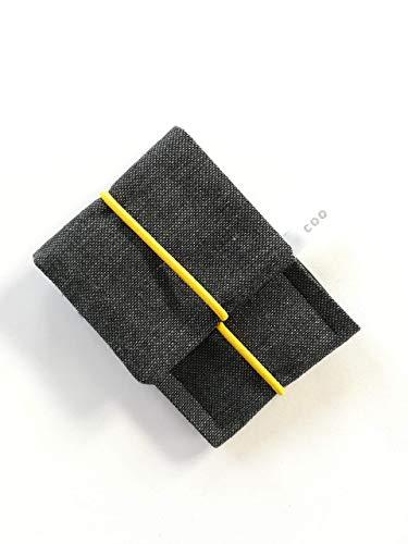 Schlichtes kleines Etui mit Gummiband/Portemonnaie/ Kopfhörertasche/Visitenkarten Tasche/Geldbörse/ Wallet/Mini Tasche/Kleines Geschenk. Männer Geschenk. Grau ()
