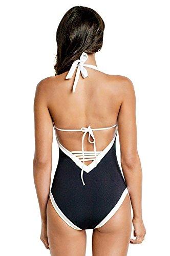 SHISHANG Bikini-Badeanzug Damen Badeanzug High - End Damen-Badeanzug der europäischen und amerikanischen Umwelt Schwimmen Waten black and white