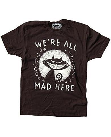 Akumu Ink - Herren T-Shirt - We´re all Mad Here (Schwarz) (S-XL) (L)