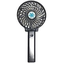Yizhet plegable 3 velocidades pequeño ventilador Ventilador de Mano Mini Ventilador Mudo Estupendo Portátil y Plegable Ventilador de Multiple Velocidad de color negro para oficina ,viaje ,camping y playa etc.