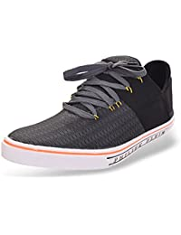 ROADSTAG Men's Slip-Ons With Lace-Ups Sneakers (Grey & Black)