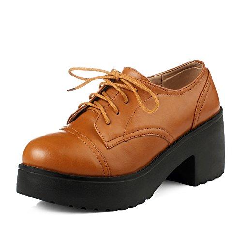 Cales chaussures/Serre-tête chaussures printemps/Plate-forme chunky talons avec des chaussures plateforme/Souliers pour dames l'Angleterre des B