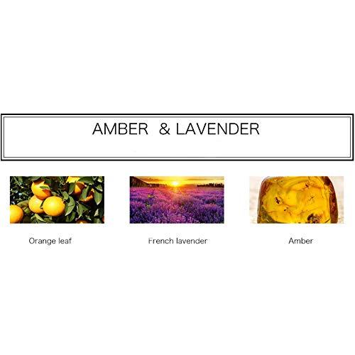Amber-duft-Öl (HLGY Citrin Aromatherapie - Vulkangestein Diffuse Stein Schlafzimmer Duft Aromatherapie Ätherisches Öl DIY Kreatives Geburtstagsgeschenk,Amber&Lavender)