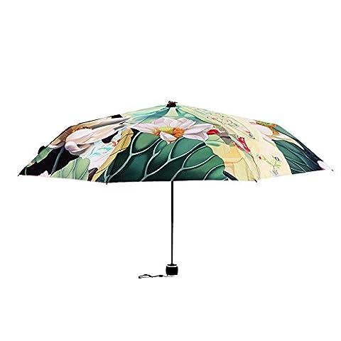 ZRLsly Tim Seltsame Original Chinesischen Stil Persönlichkeit Schöne Regenschirm Alte Mädchen Sonniger Regenschirm Siebzig Prozent Von Kreativen Anti Uv Schutzschirm Ein