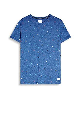 edc by ESPRIT Herren T-Shirt 057cc2k026 Blau (Navy 400)