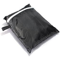 VABNEER barbacoas Fundas Impermeable, barbacoas Protector, Parrilla de Barbacoa Cubierta, 145 x 61 x 117 cm Negro, Resistente al Viento y Resistente a los Rayos UV