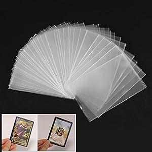 Cuigu Lote de 100 fundas mágicas transparentes para proteger los naipes de los juegos de cartas, como póquer, tarot, Tres Reinos