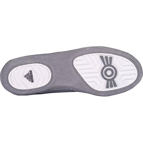 Adidas Speed â??â??Combat Taille 4 Wrestling Chaussures de jeunesse Bahia Bleu / chaux 1,5 gris - White/Red/Grey