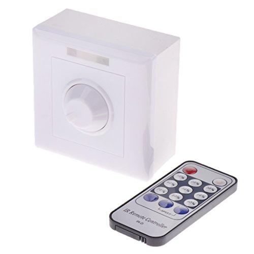 MagiDeal AC 110-230V RGB-Dimmer mit IR Fernbedienung Controller für LED Streifen Lichtleiste Lichtband