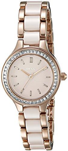 Dkny Women's Chambers NY2467 Beige Stainless-Steel Quartz Fashion Watch