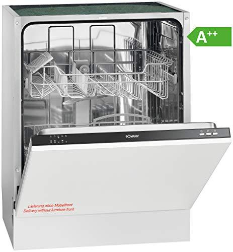 Bomann GSPE 892 Einbau-Geschirrspüler/vollintegriert / 60 cm/EEK A++ / 12 MGD / 5 Programme / 258 kWh/Jahr/Bedienblende schwarz [Energieklasse A++]