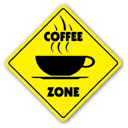SignMission Kaffee Crossing Sign Zone Xing |-| 30,5cm Hoch New Shop Beans Cup Barista House Starbucks Java