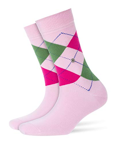 Burlington Damen Queen klassisches Argyle Muster Baumwolle 1 Paar modische Socken Blickdicht rosa (Marshmellow 8448) 36/41 (One Size)
