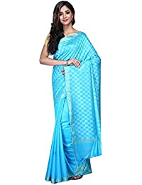 Fabstyle Handloom Silk Saree With Blouse Piece (Blue_Free Size)