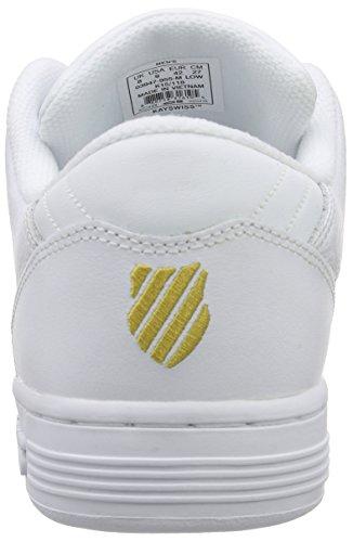 K-Swiss Lozan Iii 50th, Baskets Basses homme Blanc - Weiß (50TH/WHITE/GOLD 955)