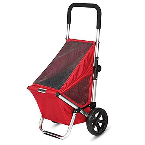 Playmarket Kompakter Einkaufstrolley mit Spezialtasche Go Fun Red