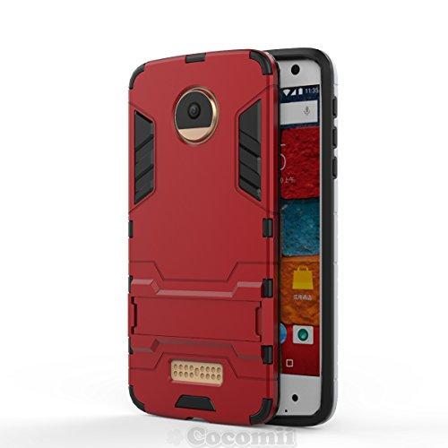Ultra Force Camo (Motorola Moto Z / Z DROID Schutzhülle, Cocomii® [HEAVY DUTY] Iron Man Case :::NEUE::: [ULTRA KRIEG RÜSTUNG] Premium Stoßfest Ständer Hülle Bumper [MILITARY DEFENDER] Voller Körper Robuste Dual Layer Hybrid Schutzabdeckung Cover Bumper Case [COCOMII GARANTIE] ::: Der Ultimative Schutz Vor Stürzen Und Auswirkungen Für Ihr Motorola Moto Z / Z DROID ::: ★★★★★ (Red))