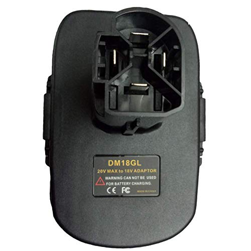 Lopbinte Dm18Gl Batterie Adapter Für Milwaukee 18 V Und Für 20 V Lithium Batterie Für Handwerker 19,2 Nickel Volt Batterie (Handwerker-volt-batterie)
