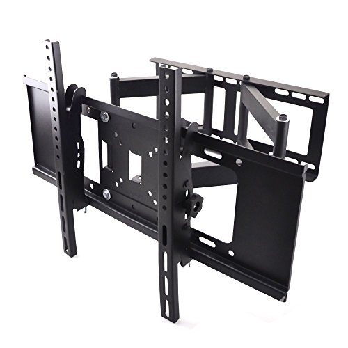Sunydeal TV Soporte de Pared Doble Brazo Televisión Soporte Montaje de Pared para 30 - 70 pulgada LCD, LED, Plasma Flat Screen Pantalla Smart TV 30 32 39 40 42 43 46 47 48 49 50 55 60 65 70 pulgada, VESA hasta 600x400mm y 99 lbs Capacidad, con Inclinación / Rotación de Movimiento
