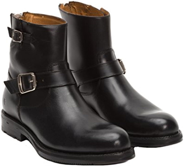 Frye Men's Brayden Engineer Black Smooth Pull Up Boot 9.5 D (M)