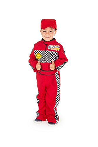 Kostüm Dress Bee Fancy - Childrens Boys Girls Red F1 Racing Car Driver Fancy Dress Costume 2 - 3 Years by Pretend to Bee