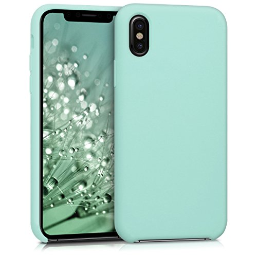 kwmobile Apple iPhone X Hülle - Handyhülle für Apple iPhone X - Handy Case in Mintgrün